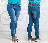 Женские летние стильные джинсы до больших размеров 006