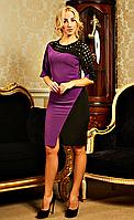"""Женское платье с перфорацией """" Джина""""  фиолетового цвета, фото 1"""