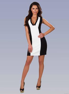 """Элегантное женское платье 1297 """"Трикотаж Контраст"""", фото 2"""