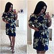 """Элегантное летнее женское платье в больших размерах 1145 """"Софт Принт Кармашки"""" в расцветках, фото 2"""