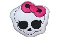 Прикольная дизайнерская флисовая подушка  Монстер Хай с наполнителем синтепон. Любое сочетание цветов!