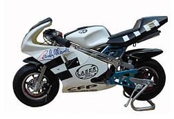 Мотоцикл спорт БЕЛЫЙ (HL-G29E) с мотором 500W