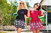 """Женское летнее короткое платье с открытыми плечами 211 """"Горошек Купон"""" в расцветках"""