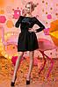 """Женское стильное короткое платье 2-713 """"Бархатные Цветы"""""""