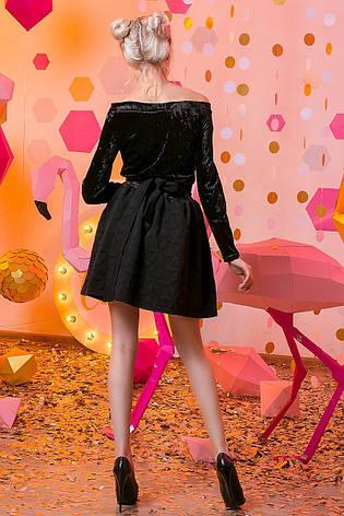 """Женское стильное короткое платье 2-713 """"Бархатные Цветы"""", фото 2"""