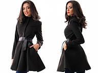 Черное пальто  из кашемира 88000014