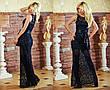"""Элегантное вечернее длинное платье """"Гипюр Атласная Лента"""" в расцветках, фото 2"""