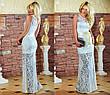 """Элегантное вечернее длинное платье """"Гипюр Атласная Лента"""" в расцветках, фото 4"""