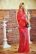 """Элегантное вечернее длинное платье """"Гипюр Атласная Лента"""" в расцветках, фото 5"""