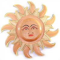 Панно настенное декоративное из дерева Солнце