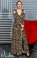 """Элегантное длинное вечернее платье с открытыми плечами """"Лео Шардон"""""""