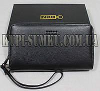 Черный брендовый кошелек из натуральной кожи