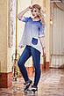 """Женская стильная рубашка-туника до больших размеров 2821 """"Лён Амбре"""" в расцветках, фото 5"""