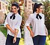 """Стильная женская рубашка в больших размерах 1065 """"Коттон Принт Галстук"""" в расцветках"""