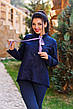 """Стильная женская рубашка в больших размерах 1065 """"Коттон Принт Галстук"""" в расцветках, фото 2"""