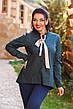 """Стильная женская рубашка в больших размерах 1065 """"Коттон Принт Галстук"""" в расцветках, фото 4"""