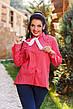 """Стильная женская рубашка в больших размерах 1065 """"Коттон Принт Галстук"""" в расцветках, фото 5"""