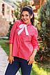"""Стильная женская рубашка в больших размерах 1065 """"Коттон Принт Галстук"""" в расцветках, фото 6"""