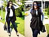"""Элегантный женский жилет с поясом в больших размерах 8005-1 """"Кашемир Мех"""" в расцветках"""