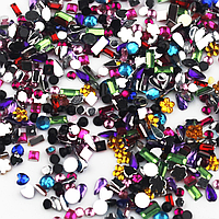Стразы для дизайна ногтей 200 шт,1.5-3 мм,различных форм и цветов