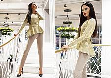 """Элегантный женский брючный костюм 0072 """"Баска Ангора Гипюр"""" в расцветках, фото 3"""