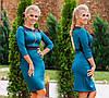 """Элегантное женское платье средней длины 790 """"Эластан Контраст Змейка"""""""