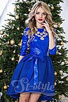"""Великолепное платье на праздник верх эко кожа юбка неопрен """"Kakvskazke"""" 2P/NS 1010"""