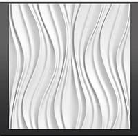 Гипсовая 3D панель настенная Тюльпан 50х50