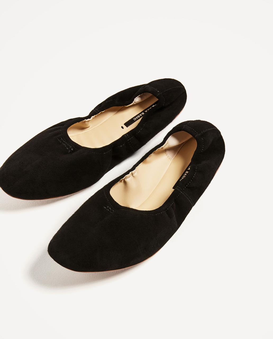 Балетки женские Zara размер 37 туфли для девочек подростковые