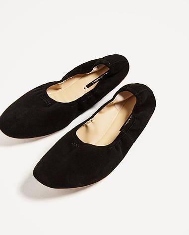 Балетки женские Zara размер 37 туфли для девочек подростковые, фото 2