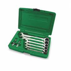 Набор комбинированных ключей 10ед 8-19мм с трещоткой Toptul GAAI1002