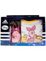 Набор Adidas для малышей (пинетки + слюнявчик)