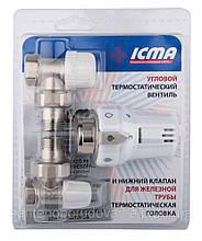 Термостатичний комплект кутовий