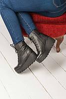 Женские ботинки Б-3 на платформе из кожи