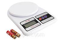Электронные Кухонные Весы 7 кг SF- 400 + Батарейки