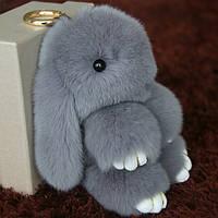 Кролик брелок из натурального меха 18 см.