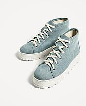 Криперы женские Zara размер 38 (37.5) слипоны кеды для девочек подростковые