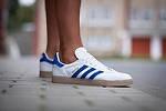 "Кроссовки Adidas Gazelle ""White/Blue"", фото 1"