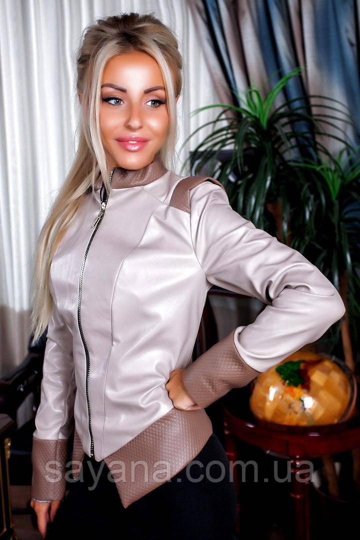 Женская куртка из эко кожи, 3 цвета. ПН-21-0817