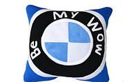 """Декоративная диванная подушка из флиса """"Be my WoW"""". Прикольные подушки для вашего дома, любой цвет под заказ!"""