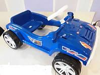 Каталка педальная синяя/фиолетовая