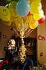 Связка из шаров со смайлами и шаров «с днем рождения»