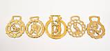 Латунні медальйони для кінської збруї, вінтаж, латунь, Англія, фото 2