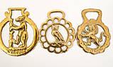Латунні медальйони для кінської збруї, вінтаж, латунь, Англія, фото 6