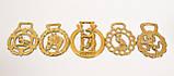 Латунні медальйони для кінської збруї, вінтаж, латунь, Англія, фото 3