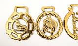 Латунні медальйони для кінської збруї, вінтаж, латунь, Англія, фото 5
