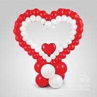 Плетенное сердечко из воздушных шаров