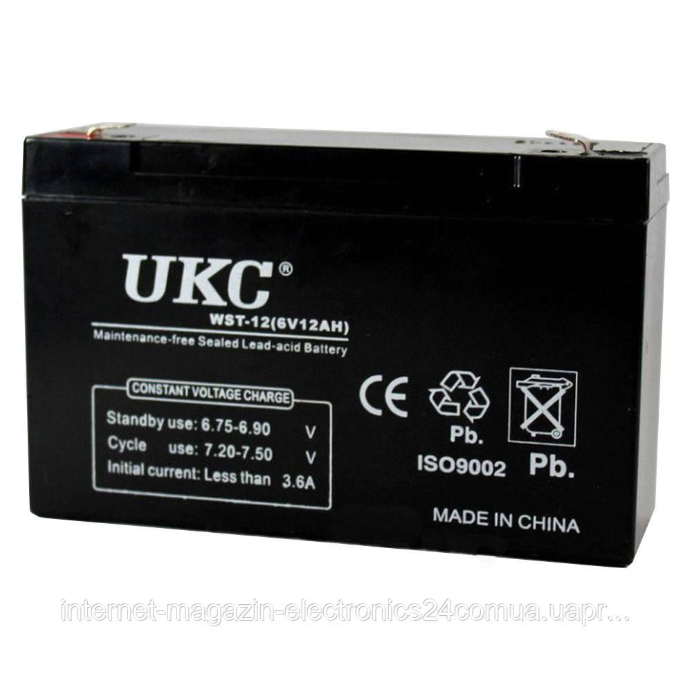 Аккумулятор BATTERY 6V 12A UKC - Интернет магазин Electronics24 в Одессе