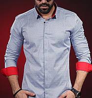 Модная классическая рубашка  с вставкой, фото 1