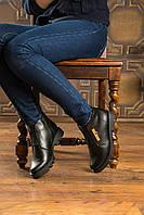 Женские ботинки Б-34 на каблуке из кожи
